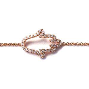 Bracciale Jovane con mano di fatima e diamanti | Gioielleria Caruso