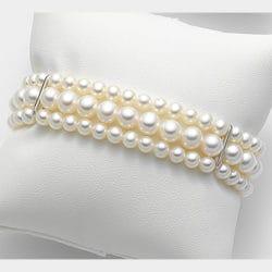 Bracciale con perle a tre fili | Gioielleria Caruso