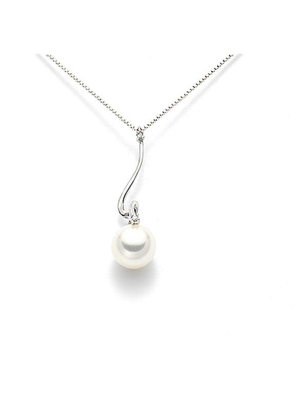 Girocollo con perla e diamanti   Gioielleria Caruso