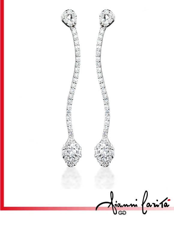 Orecchini a serpente con diamanti | Gioielleria Caruso