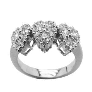 Anello con cuori e diamanti   Gioielli Caruso