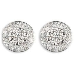 Orecchini ciambelline con diamanti | Gioielli Caruso
