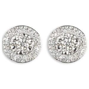 Orecchini ciambelline con diamanti   Gioielli Caruso