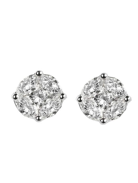 orologio 55f19 4a69f Orecchini con diamanti taglio navette
