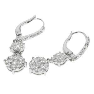 Orecchini fani gioielli con diamanti   Gioielli Caruso