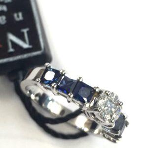 Anello Fani con zaffiri e diamanti   Gioielli Caruso