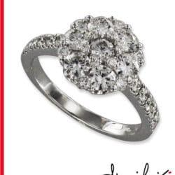 Anello in oro bianco con diamanti | Gioielleria Caruso Napoli
