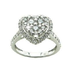 Anello cuore con diamanti | Gioielli Caruso