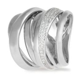 Anello KdiKuore in oro bianco con diamanti | Gioielleria Caruso Napoli