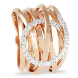 Anello KdiKuore in oro rosa con diamanti | Gioielleria Caruso Napoli