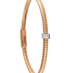 Bracciale KdiKuore in oro rosa con diamanti | Gioielleria Caruso Napoli