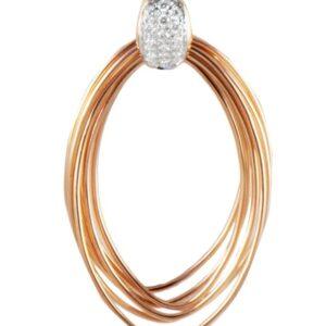 Collana KdiKuore in oro rosa con diamanti | Gioielleria Caruso Napoli