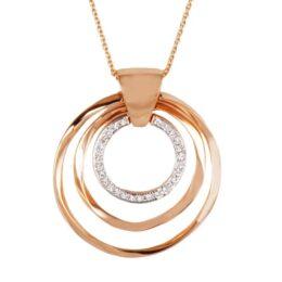 Collana KdiKuore in oro rosa con diamanti   Gioielleria Caruso Napoli