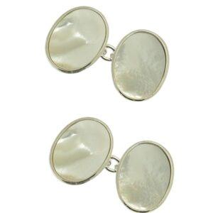 Gemelli in argento con madreperla | Gioielleria Caruso Napoli