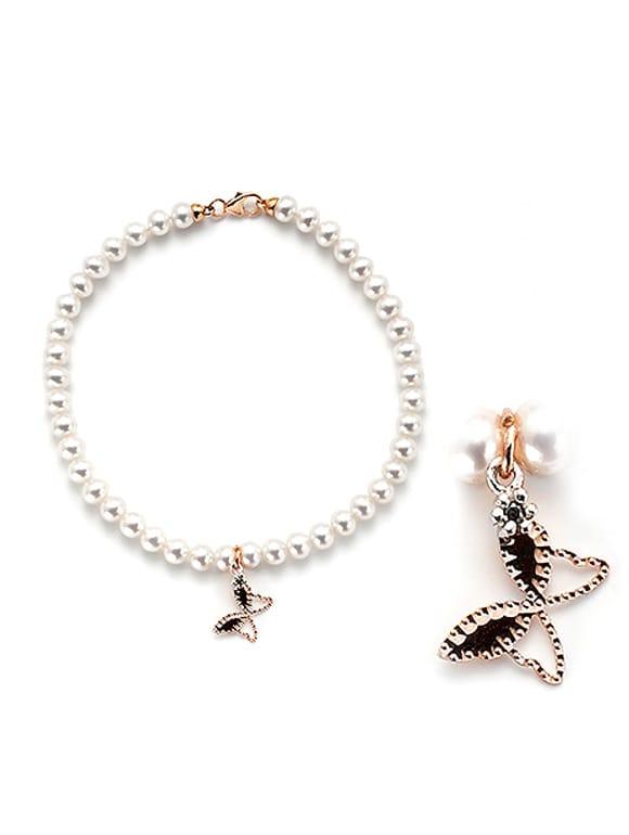 bracciale perle con farfalla | Gioielleria Caruso Napoli