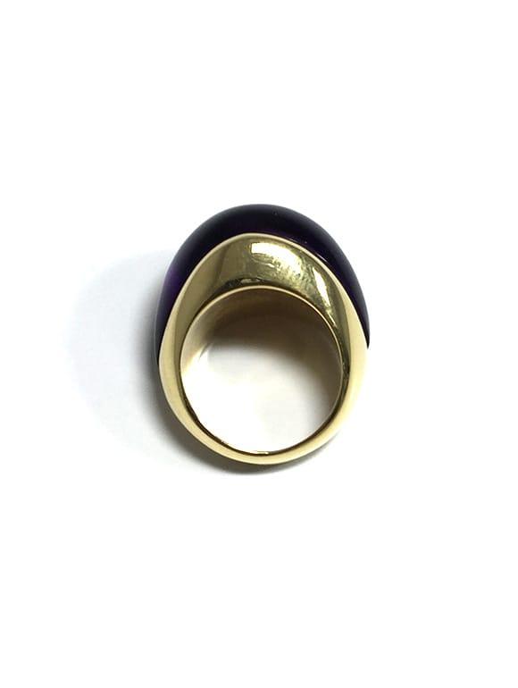 Anello in oro giallo con ametista | Gioielleria Caruso Napoli