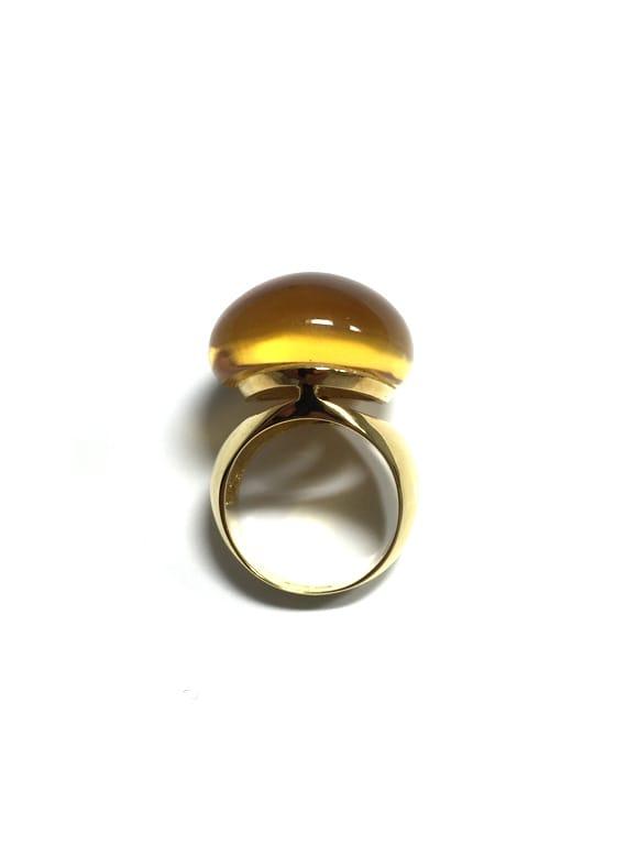 Anello in oro giallo con citrino | Gioielleria Caruso Napoli