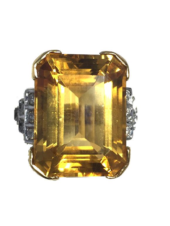 prezzo più economico nuovo elenco ufficiale più votato Anello in oro giallo con citrino e diamanti