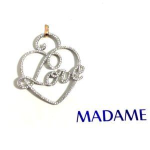 Ciondolo Love Madame con diamanti | Gioielleria Caruso Napoli