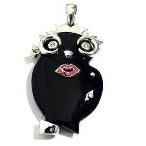 Civetta Madame gioielli con diamanti | Gioielleria Caruso Napoli