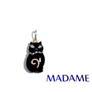 Gatto Madame gioielli con diamanti | Gioielleria Caruso Napoli