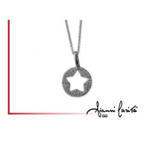 Pendente stella in oro bianco con diamanti | Gioielleria Caruso Napoli