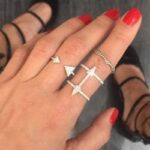 Double Arrow Diamond Ring | Gioielleria Caruso Napoli