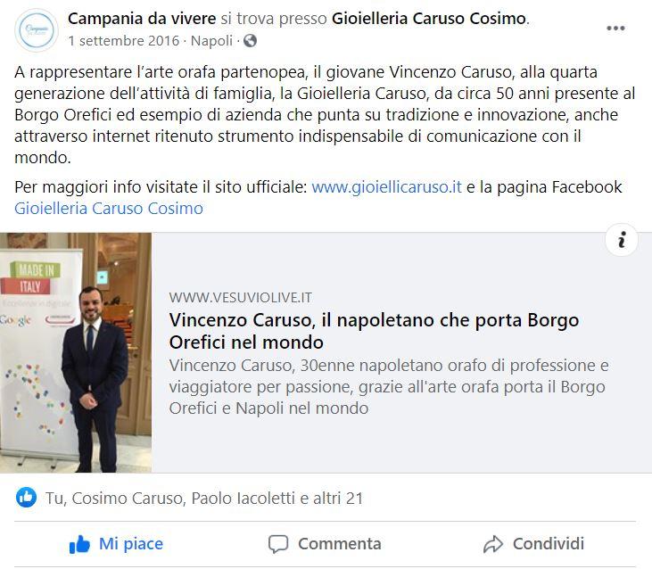 Arte orafa e Made in Italy: Eccellenze in digitale | Vincenzo Caruso